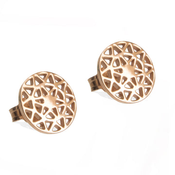 Dandelion-stud-earrings-rose gold