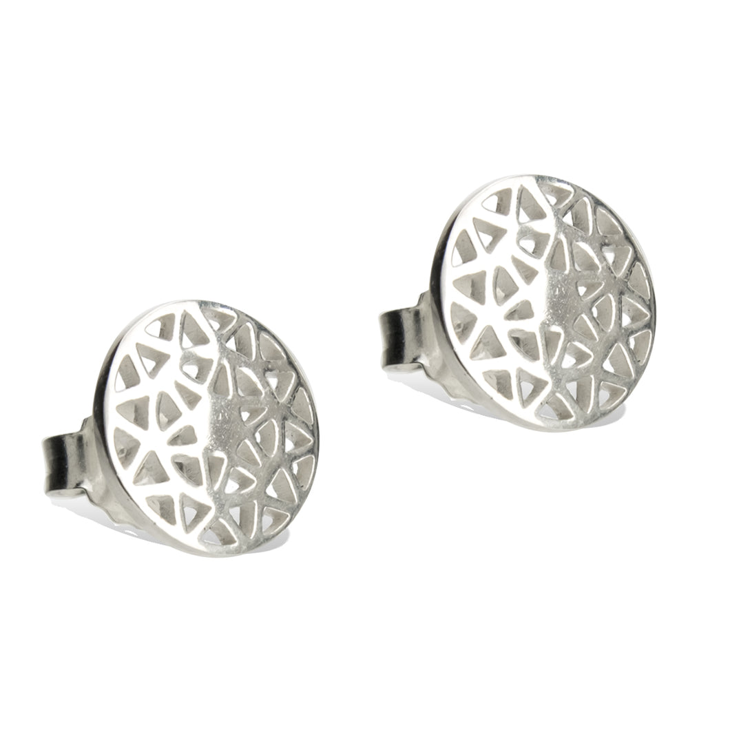 Dandelion-stud-earrings-sterling silver