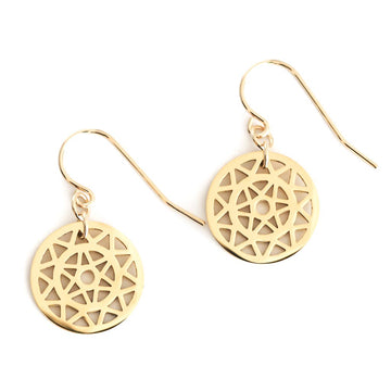 Dandelion Hook Earrings - Gold