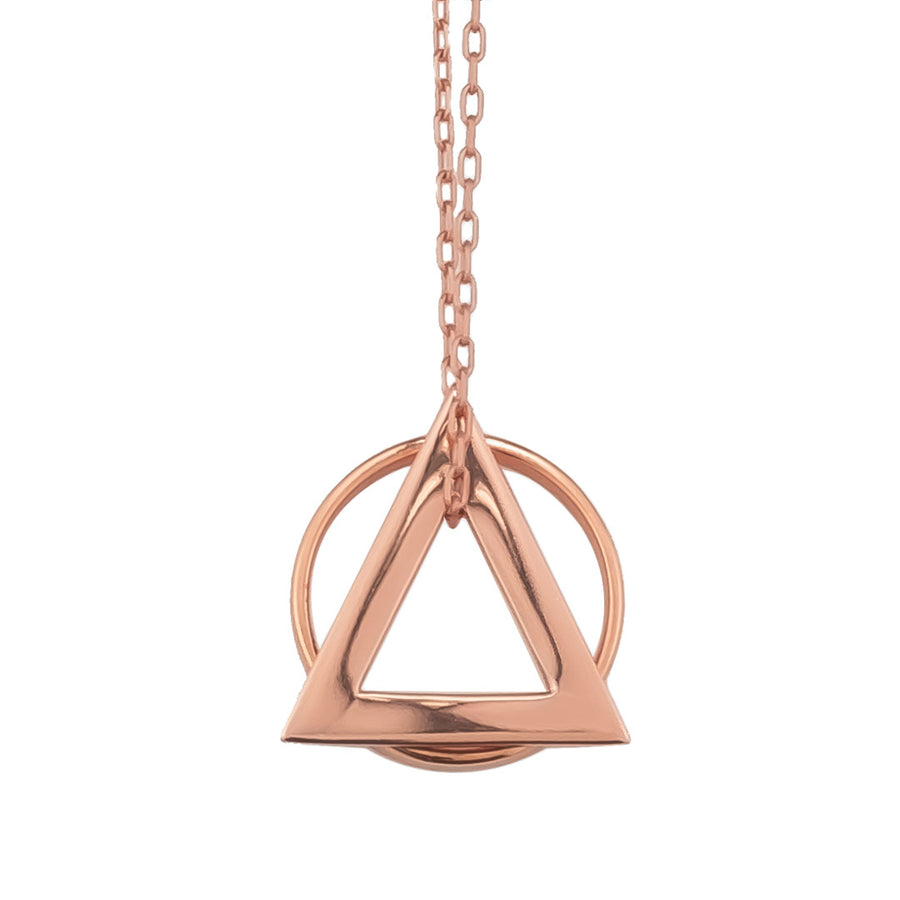 Deltaglyph Ring of fire pendant Rose Gold