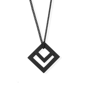 Double-diamond-pendant black
