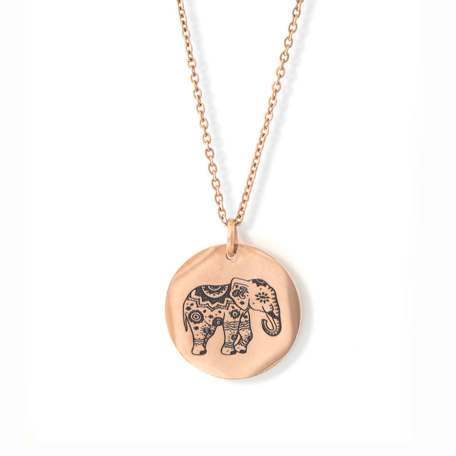 Enchanted Elephant Pendant Rose Gold