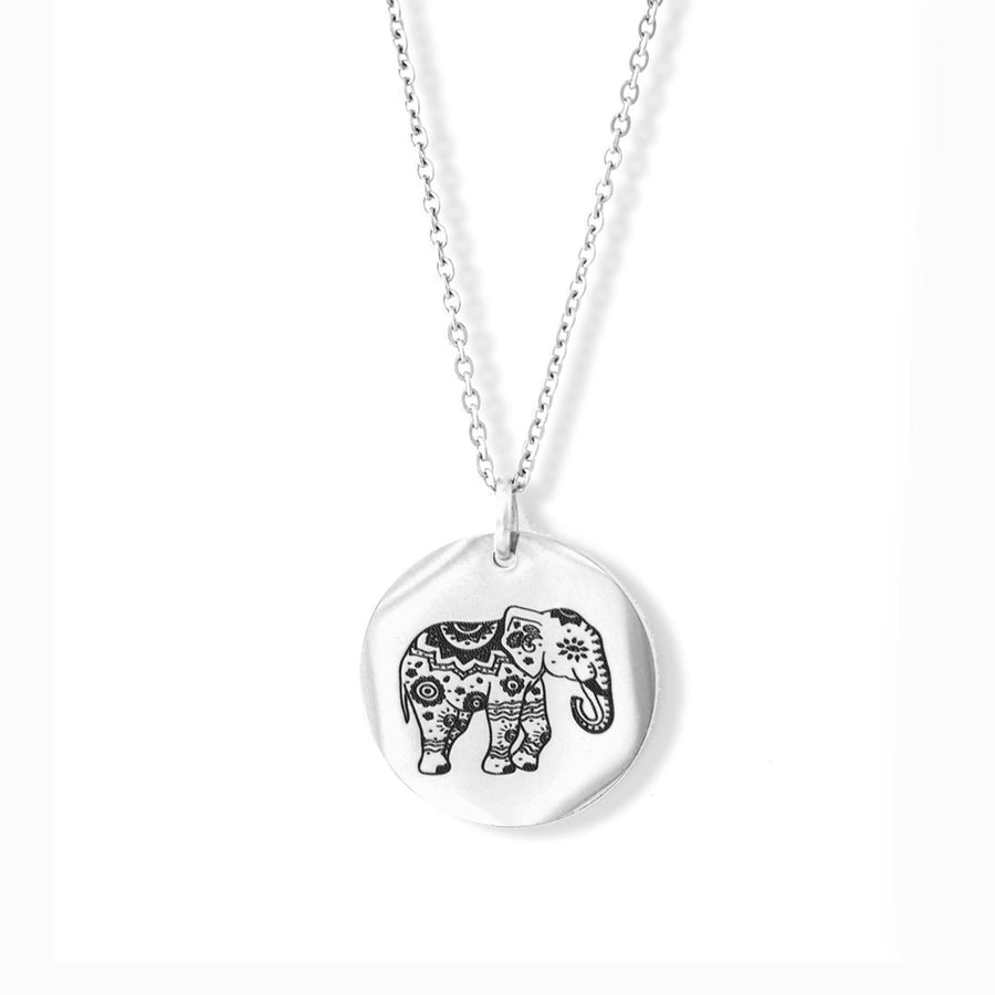 Enchanted Elephant Pendant Rhodium