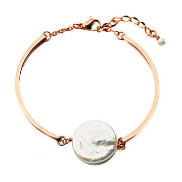 Enchantment Pearl Bracelet - Rose Gold and Pearl