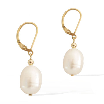 Enchantment Pearl Earrings - Gold and Pearl