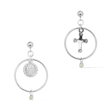 Faith Union Earrings - Silver