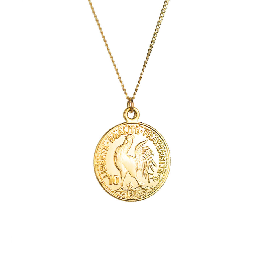 Heirloom Gold Coin Necklace Tails