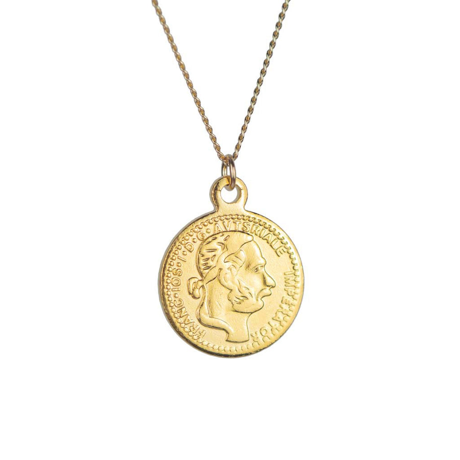 Heirloom Mini Gold Coin Necklace Heads