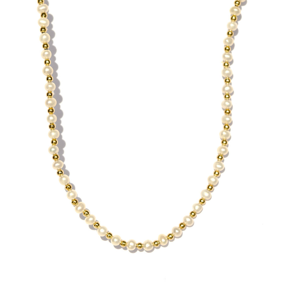 The Grace Necklace Gold and Pearl
