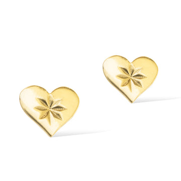 HEARTBEAT STUD EARRINGS -  Gold