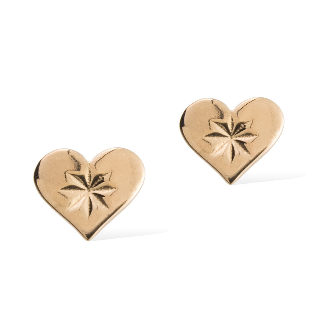 HEARTBEAT STUD EARRINGS -  Rose Gold