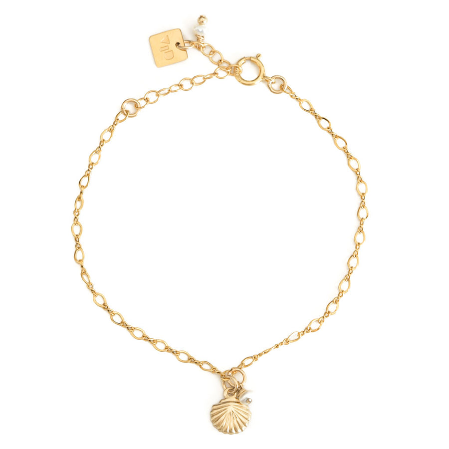 Impressions Shell Bracelet - Gold and Pearl