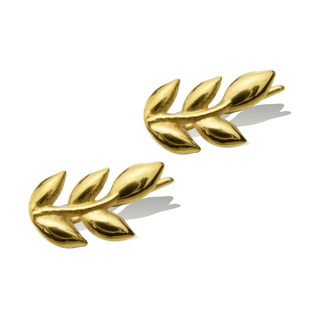 LITTLE LEAF EARRINGS -  Gold