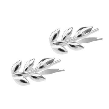 LITTLE LEAF EARRINGS - Sterling Silver
