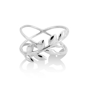 LITTLE LEAF RING -Sterling Silver