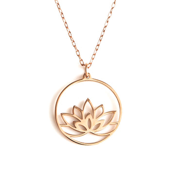 Lotus Pendant - Rose Gold