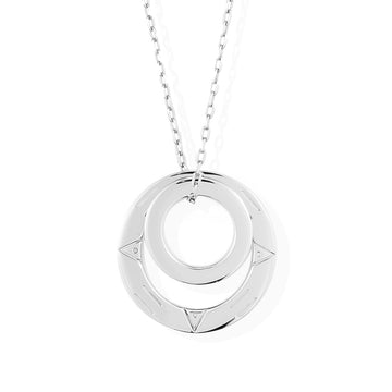 MAGIC CIRCLES PENDANT - Rhodium