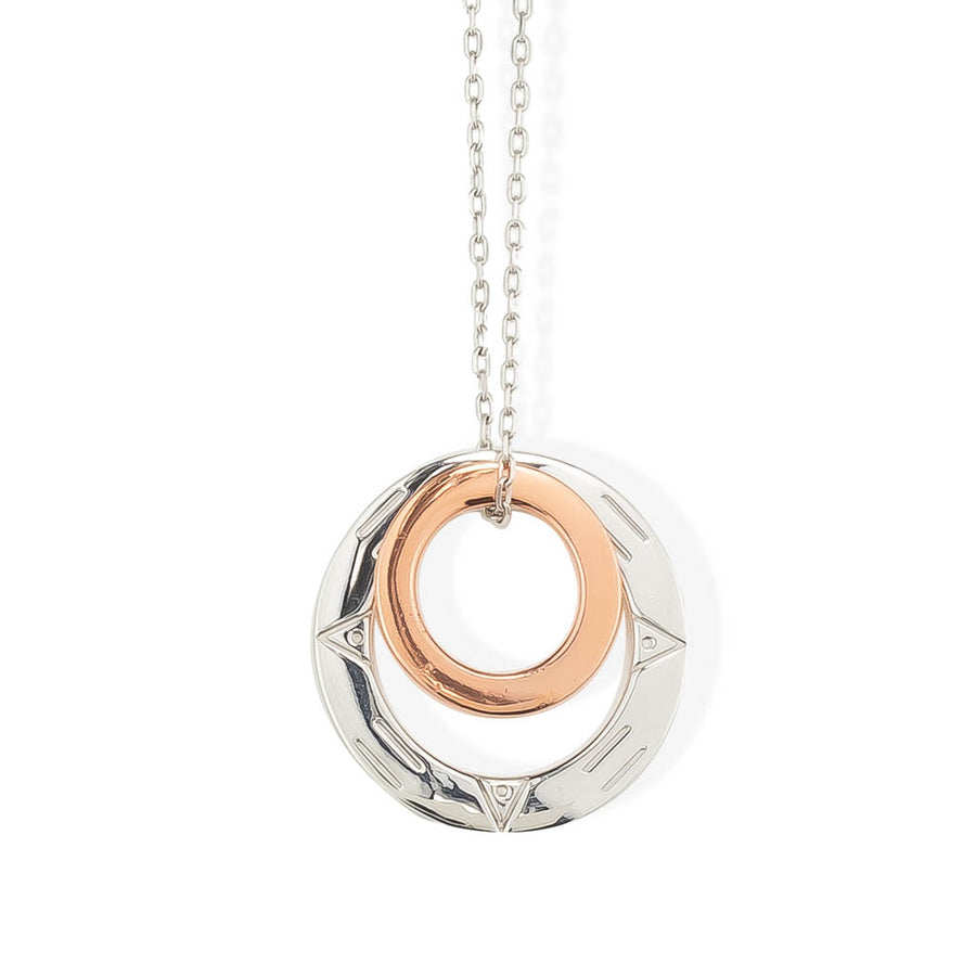 MAGIC CIRCLES PENDANT - Rhodium and Rose Gold