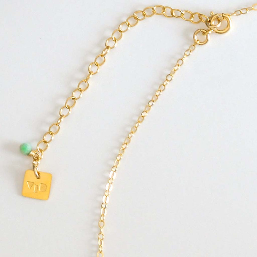 Necklace chain Extender Gold and Amazonite