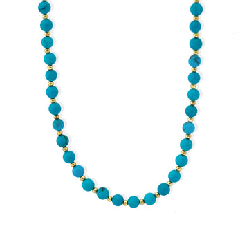 Nefertiti Necklace Gold and Turquoise