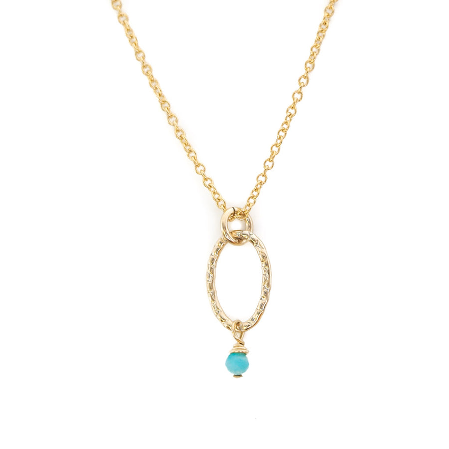 Orbit Mini Necklace - Gold and Amazonite