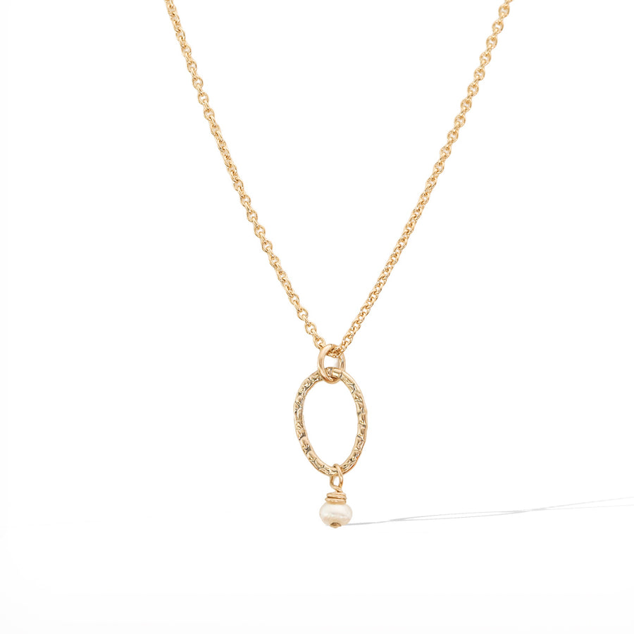 Orbit Mini Necklace - Gold and Pearl