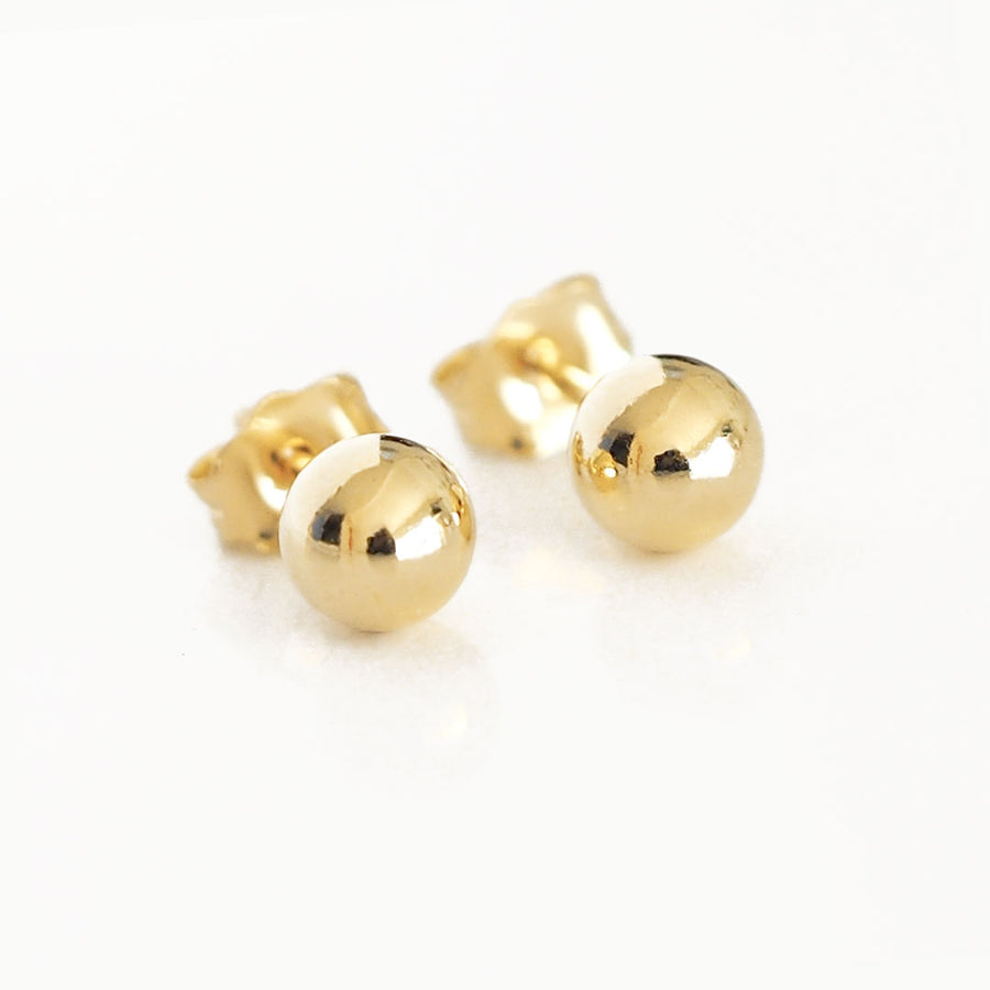 Perfect Dot Earrings 5mm Gold