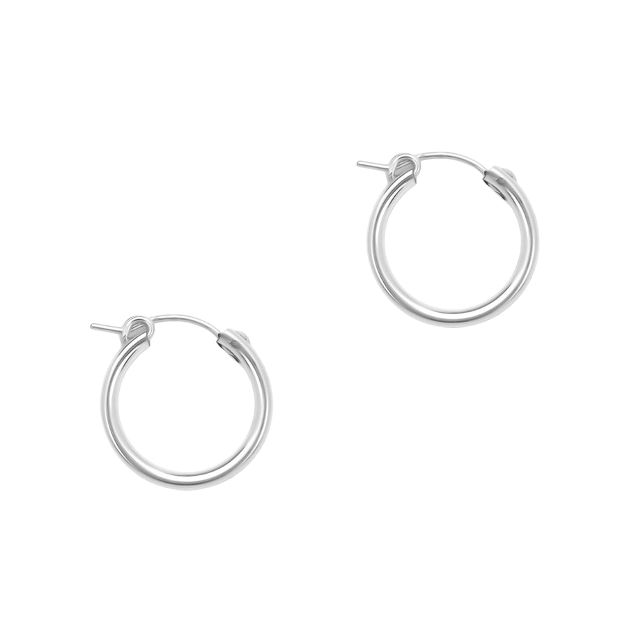 Perfect Hoop Earrings - Silver 19mm