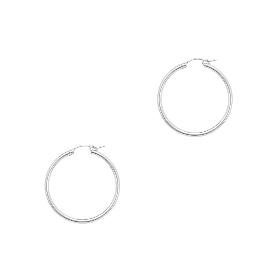 Perfect Hoop Earrings - Silver 34mm