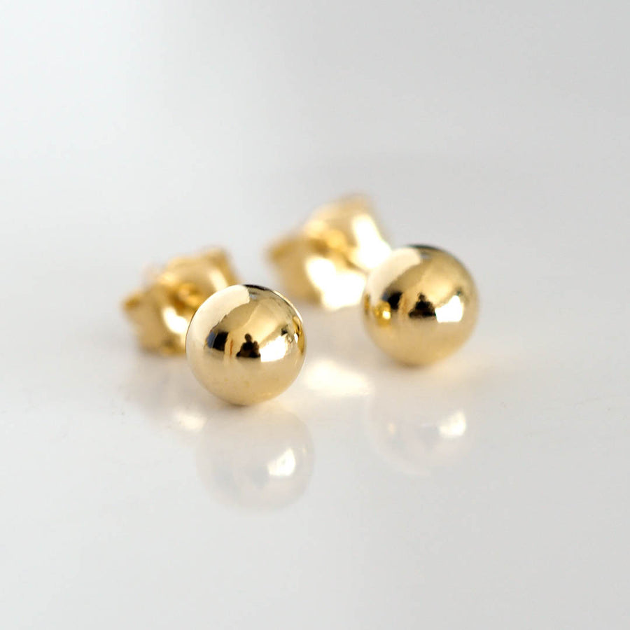 Perfect Dot Earrings 4mm Gold