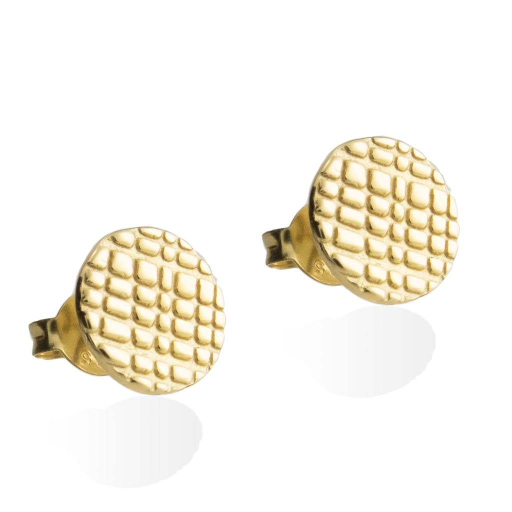 RAIN STUD EARRINGS -  Gold