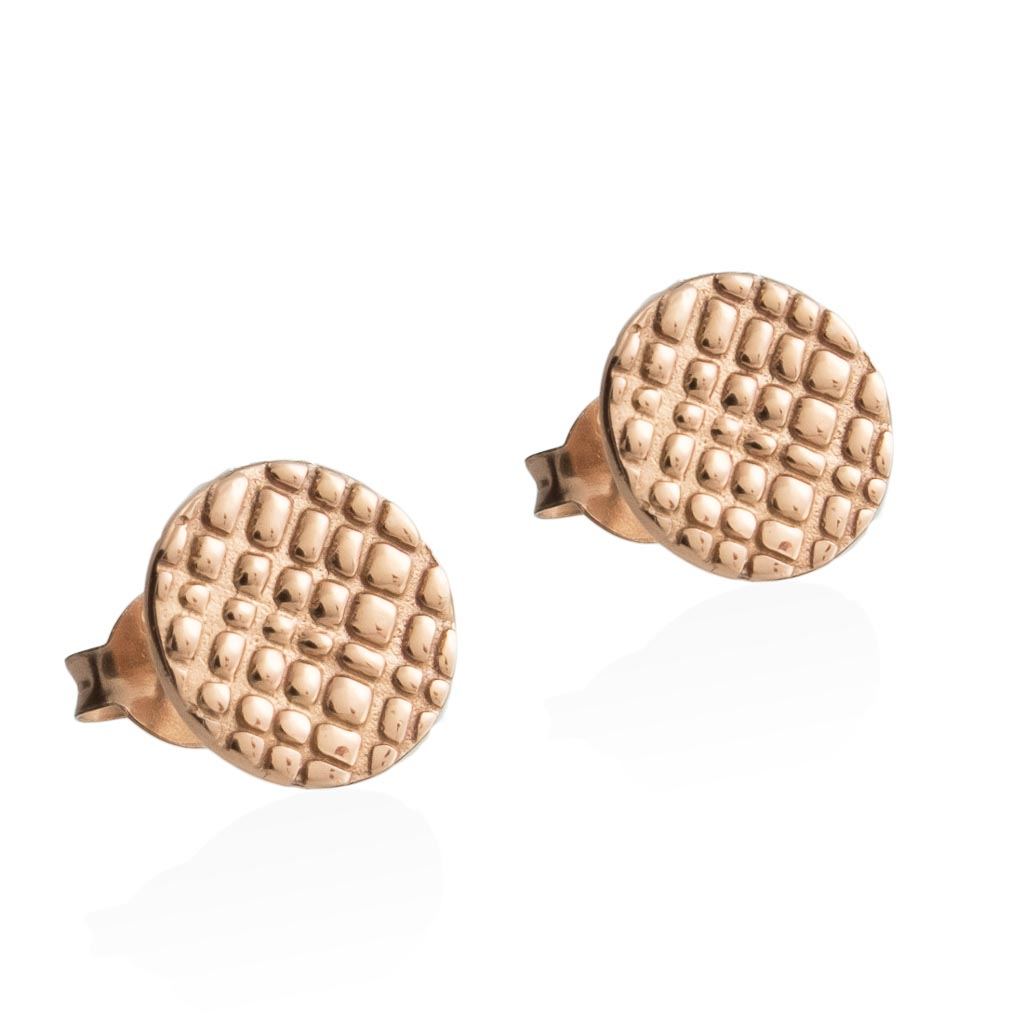 RAIN STUD EARRINGS -  Rose Gold