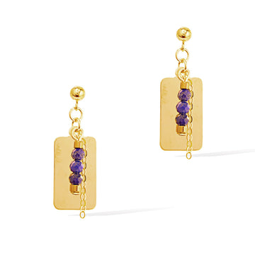 Reflections Lapis Lazuli Drop Earrings - Gold and Lapis Lazuli