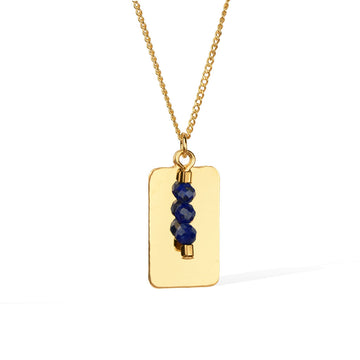 Reflections Lapis Lazuli Necklace - Gold