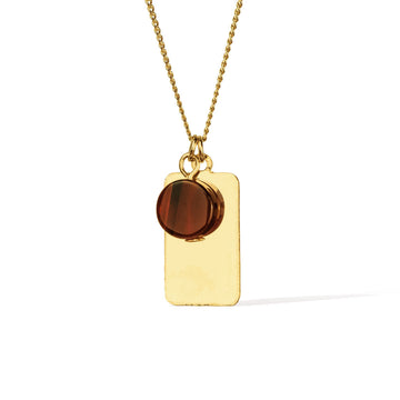 Reflections Red Agate Necklace - Gold