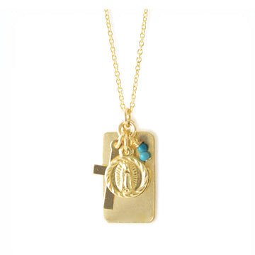 Reflections Faith  Necklace - Gold and Turquoise