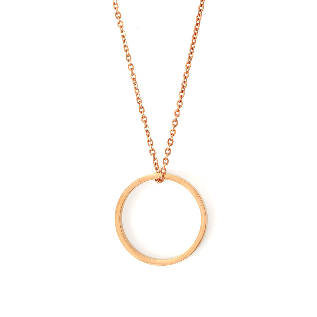 Ring of fire pendant single Rose gold
