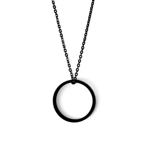 Ring of fire pendant single Black