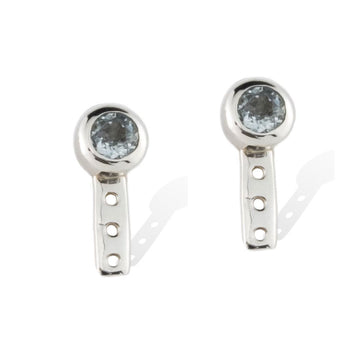 SOL LUNA EARRINGS -  Sterling Silver with Aquamarine