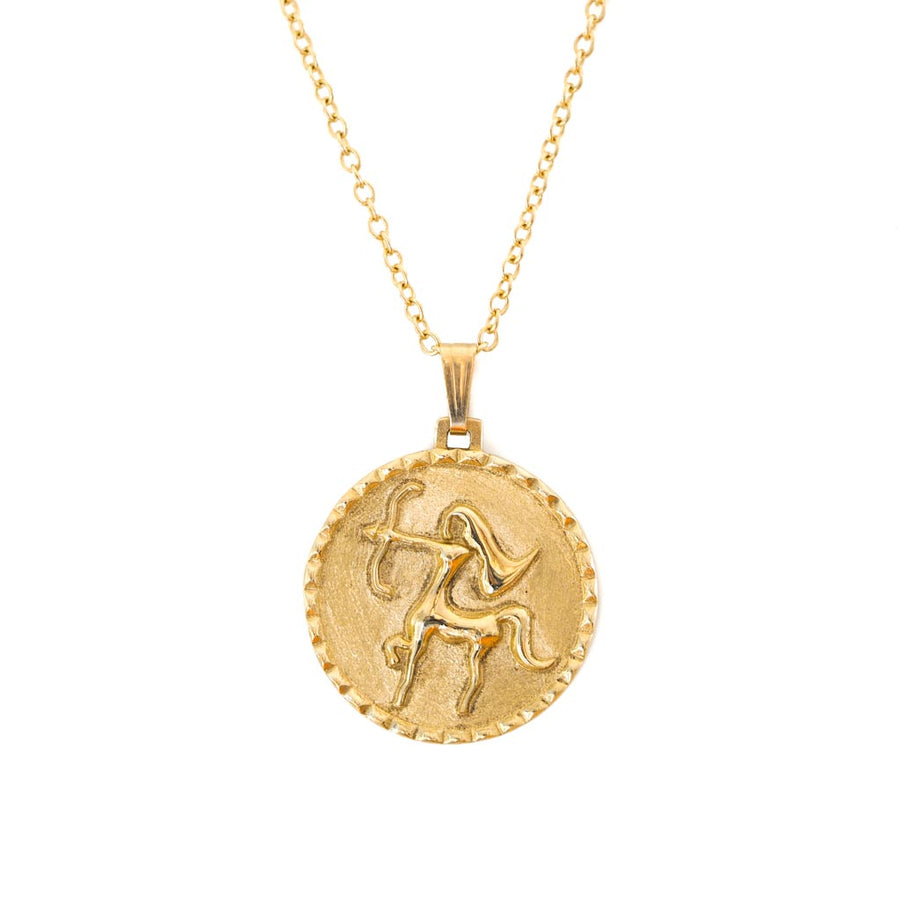 The Sagittarius Necklace - Solid Gold