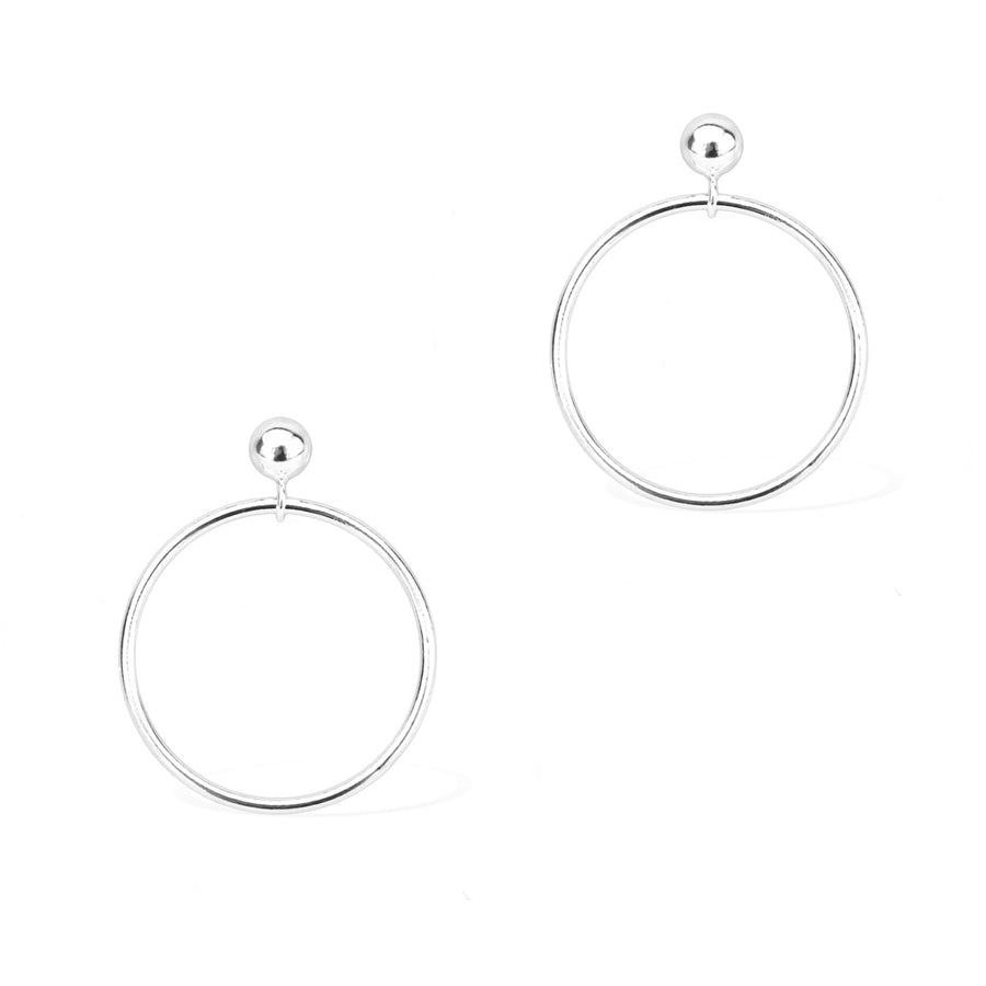 Silver Halo Earrings - Silver