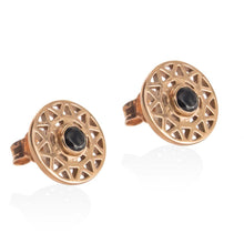 TARAXACUM EARRINGS -  Rose Gold with Black Spinel