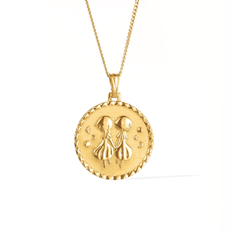 The Gemini Necklace - Solid Gold