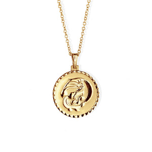 The Aquareius necklace solid gold