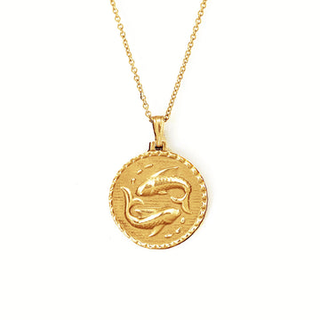 The Pisces Necklace - Solid Gold