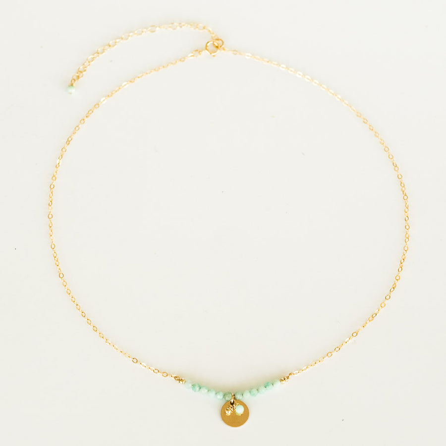 The Aura Necklace - Gold and Amazonite