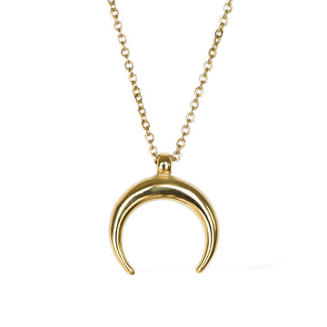 The Crescent Necklace - Gold