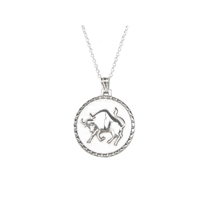 taurus zodiac astrology horoscope in jewelry pendant women mens from necklaces for item constellation necklace disc signs