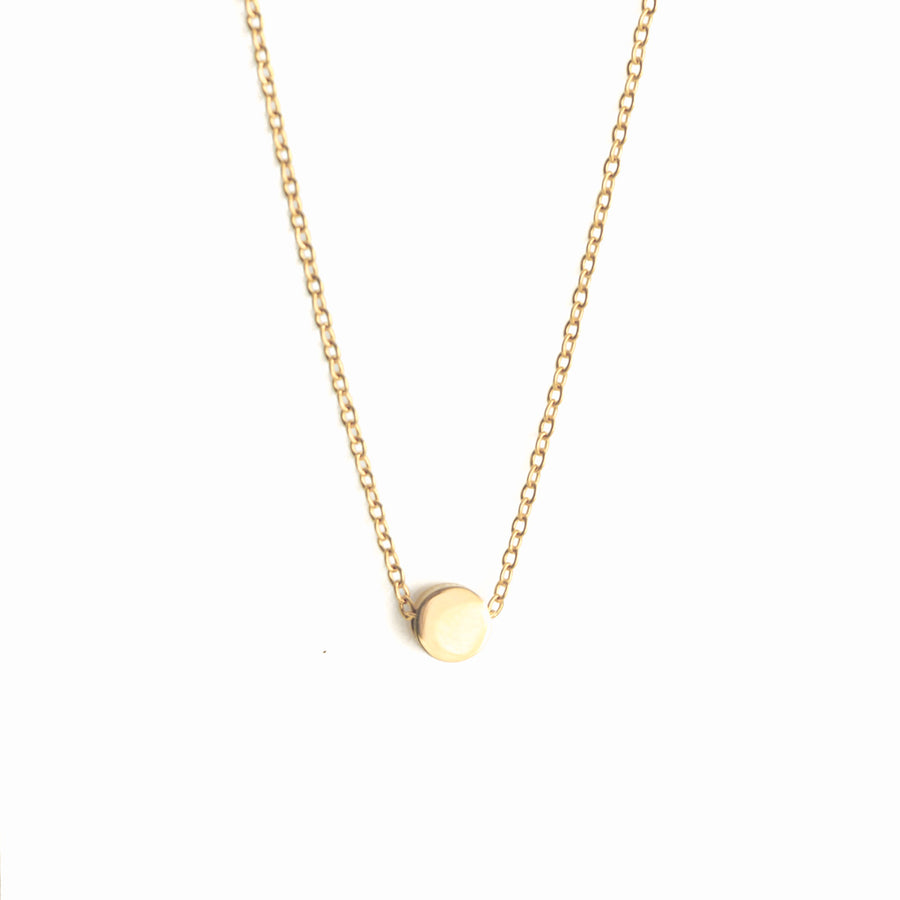 Tiny Dot Necklace - Gold
