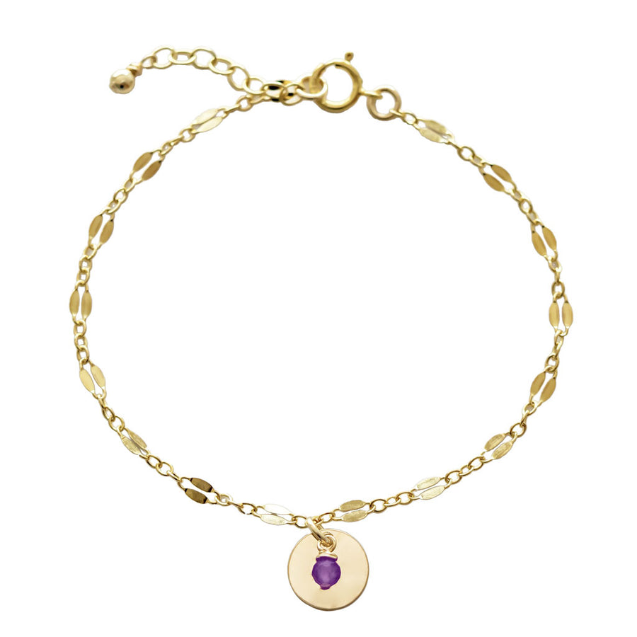 Unity Bracelet - Gold and Amethyst